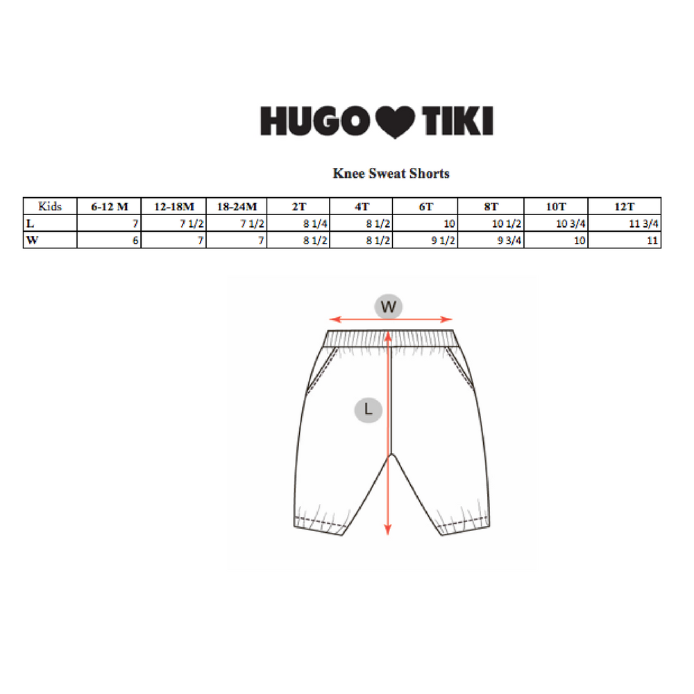 Hugo Loves Tiki Knee sweatpants Blue Rainbows - 2T