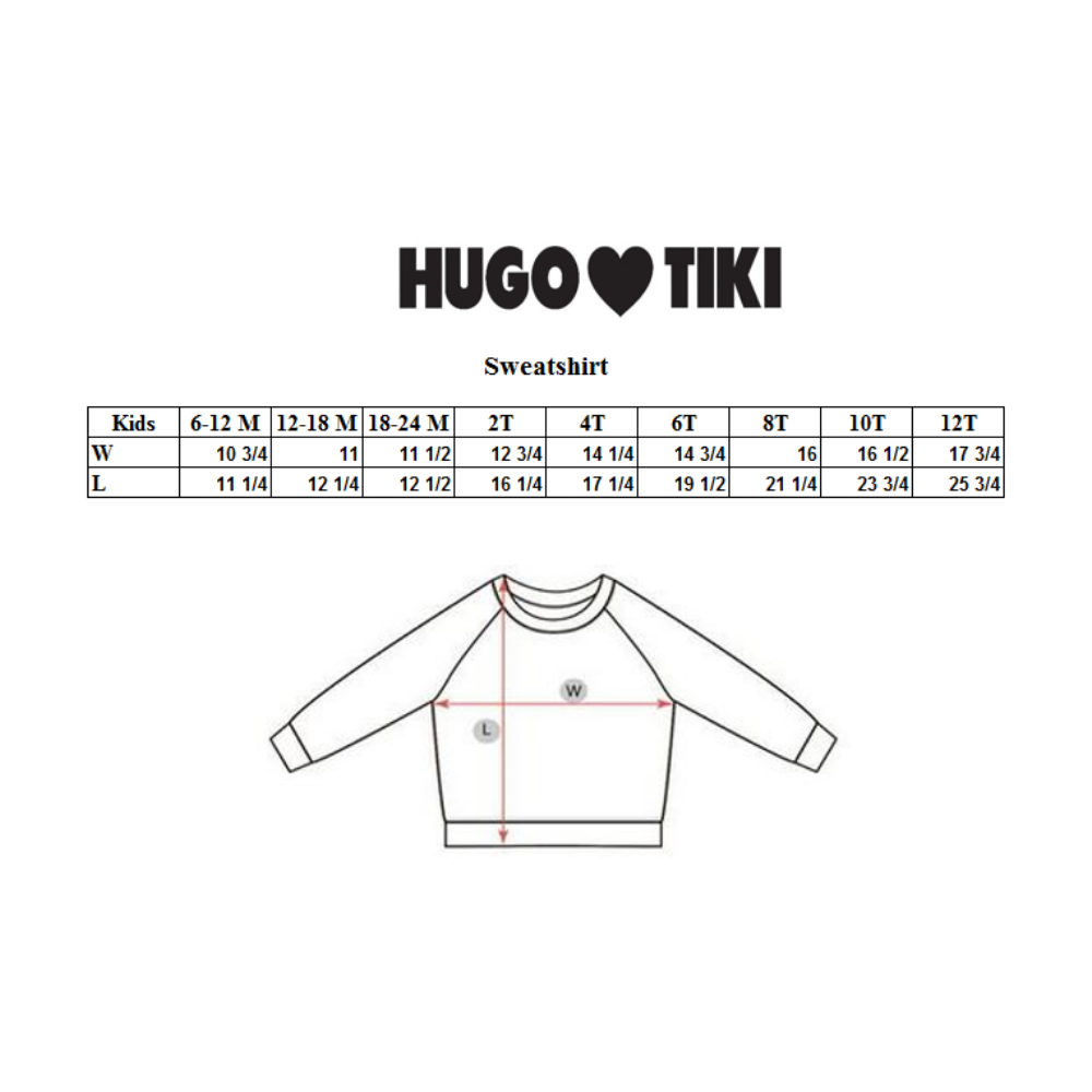Hugo Loves Tiki Sweatshirt - Purple Raspberries