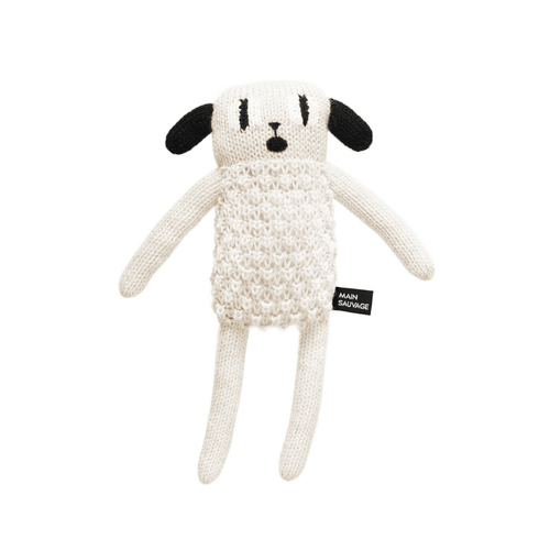 main sauvage puppy knitted plushtoy