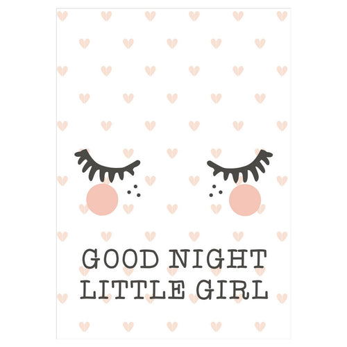 Rose In April : Affiche Good Night Little Girl - Décoratin murale