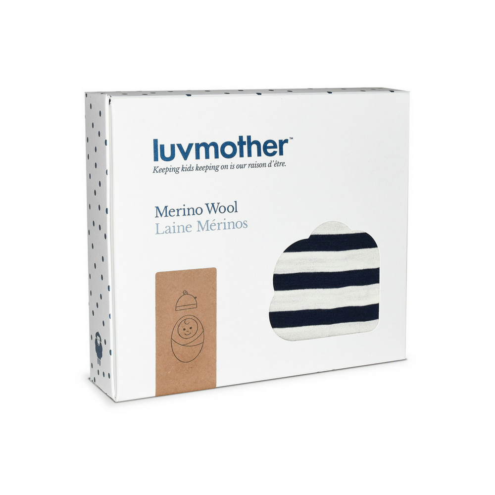 Luvmother : Baby blanket and knot hat stripe - Baby Blanket