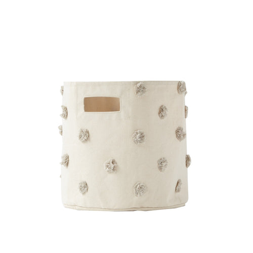 Pehr Designs : Grey pompom bin - Kids storage