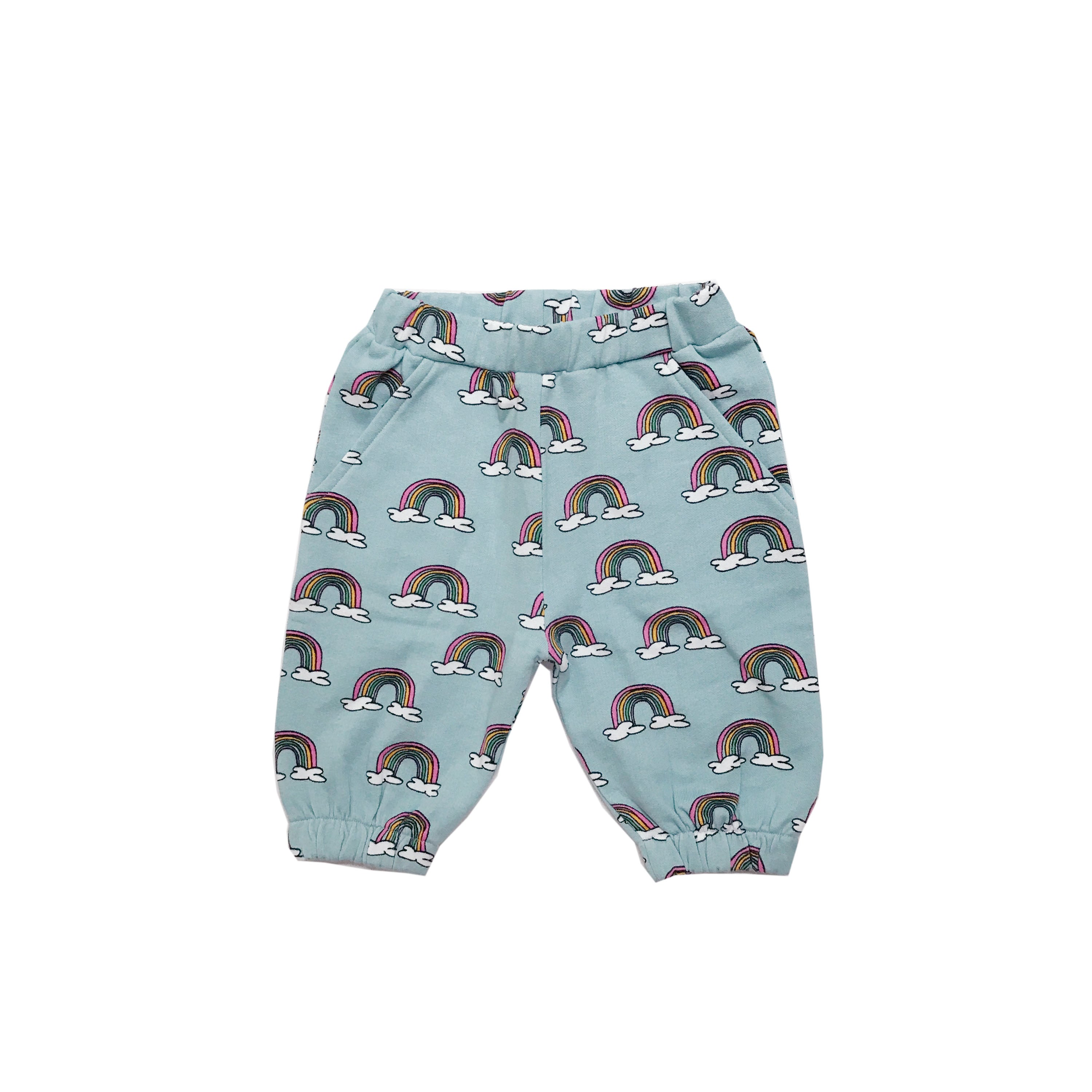 Hugo Loves Tiki : Knee sweatpants Blue Rainbows - Hugo Loves Tiki shorts