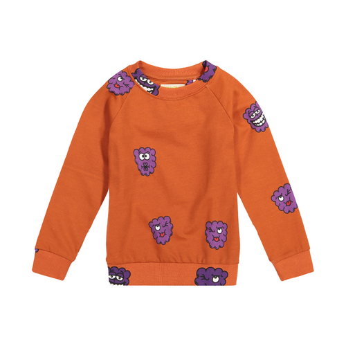 hugo loves tiki sweatshirt - purple raspberry