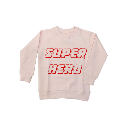 hugo loves tiki super hero sweatshirt