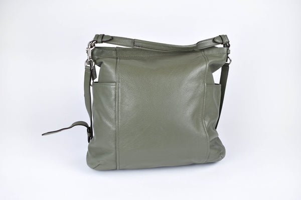 Coach Purse with Pebbled Leather || Large Green Coach Purse