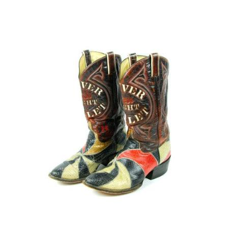 Coors Light Silver Bullet Snakeskin Cowboy Boots!