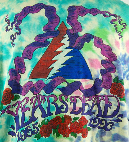 Iconic 1990 Grateful Dead Tour T-Shirt, Stanley Mouse, Alton Kelly, Historic Tee, Size Large