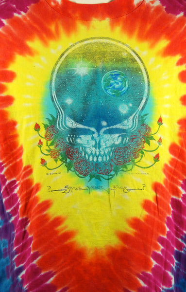 Grateful Dead 25 Years Dead T-Shirt, SPACE YOUR FACE Artwork by Gregg Templeton, Size Large