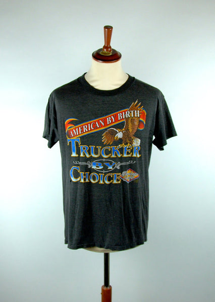 TRUCKERS ONLY, Trucker By Choice, 1990 3D Emblem Trucker Tee - Desert Moss