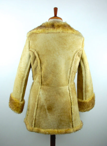 Ardney Suede Lamb Princess Coat, Size 11/12, Pure Virgin Wool - Desert Moss