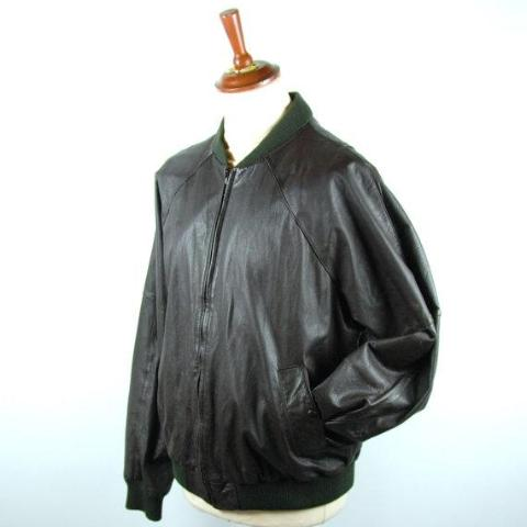 1970's REMY Brown Leather Jacket, Size 44