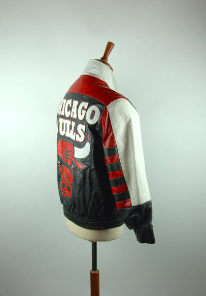 1990's CHICAGO BULLS Leather Jacket by Jeff Hamilton