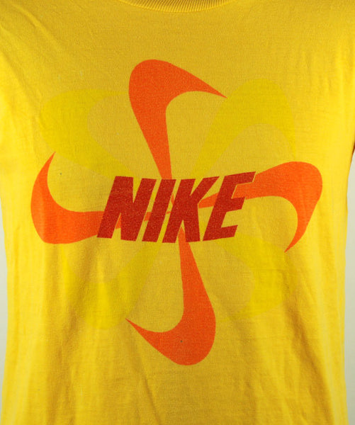 1970's Block Letter NIKE Pinwheel T-shirt, Size Medium