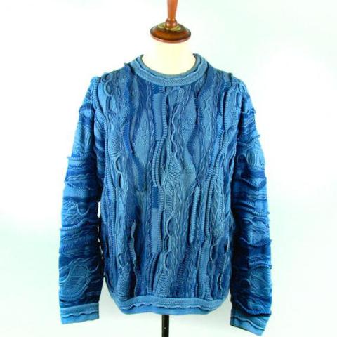 Vintage COOGI Blues Sweater, Size Large - Desert Moss