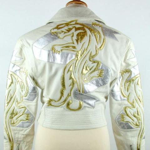 Golden Tiger Biker Jacket, North Beach by Michael Hoban, Size 3/4 - Desert Moss