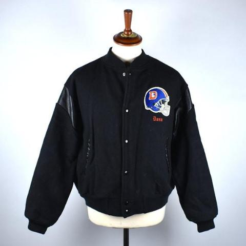 RARE 1980's Denver Broncos Wool Varsity Jacket by Chalk Line, Size Large