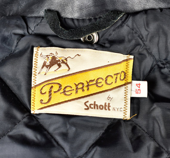 Schott NYC Perfecto 618 Motorcycle Jacket in Amazing Condition, Men's size 54, Schott Bros. NYC
