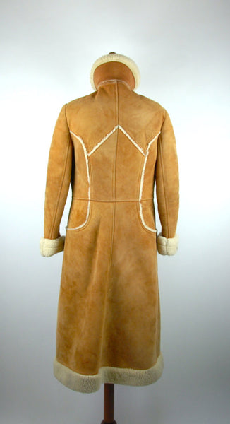 Shearling Doublebreasted Spy Coat by Montreal Leather Garment Company - Montreal, Quebec CANADA / Shearling Trench Coat - Desert Moss