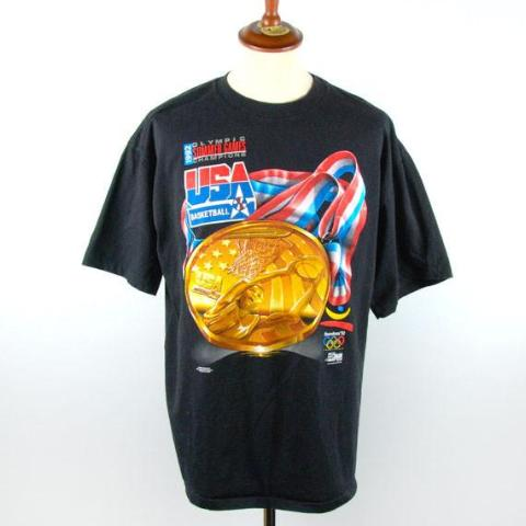 1992 Olympic Dream Team Gold Medal Champions T-Shirt - Desert Moss