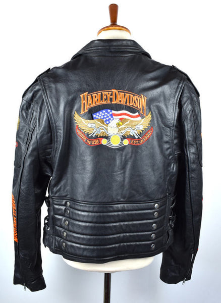 Harley Davidson Biker Jacket with Incredible Embroidery Size 52 - Desert Moss