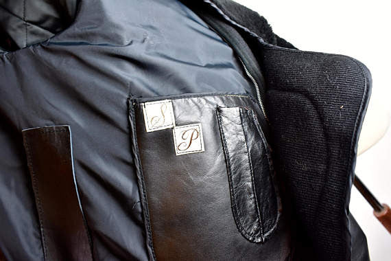 1960's Passaic Leathers Motorcycle Police Jacket, Size 54 - PERFECT CONDITION!