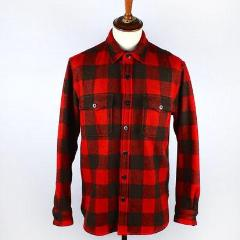 Buffalo Plaid Wool Shirt Jacket - Wallace & Barnes, Garments of Distinction