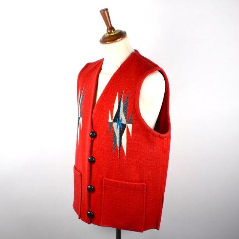 Ortegas Chimayo Wool Vest, Size XL, 100% Hand Loomed Wool - Made in Chimayo New Mexico USA