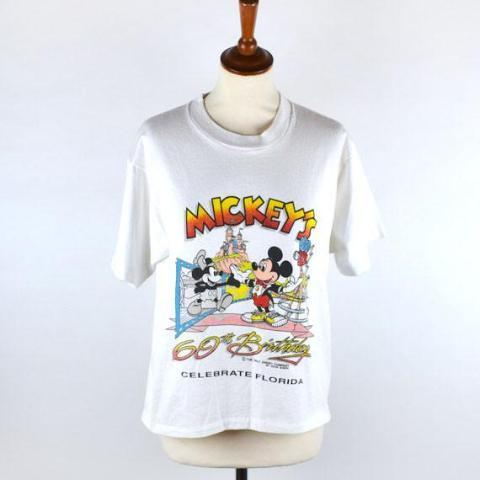 1988 Mickey Mouse's 60th Birthday T-shirt, Walt Disney World T-Shirt - Desert Moss