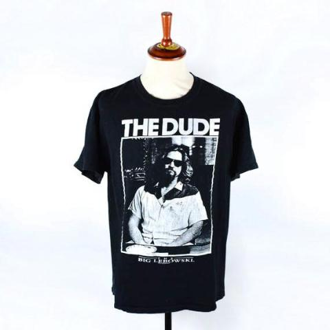Original Big Lebowski THE DUDE T-Shirt, Universal Studios Trademark - Desert Moss