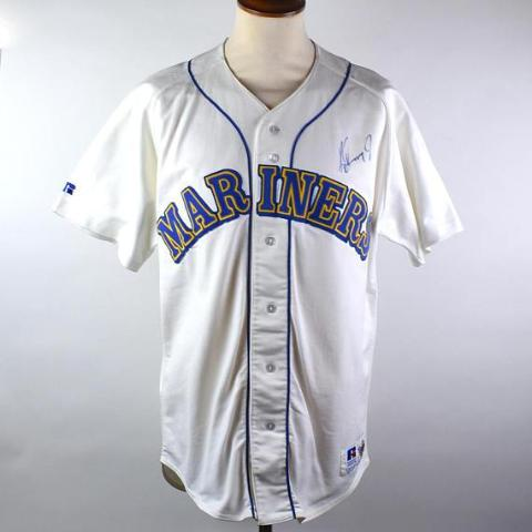 Ken Griffey Jr. AUTOGRAPHED Seattle Mariners Jersey by Russell Athletic