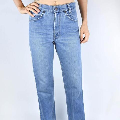 High Waisted Orange Label LEVI'S || Light Wash Denim Jeans || Straight Leg