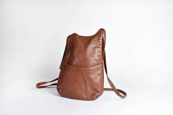 J.P. Ourse Cie Kangaroo Bag || Brown Leather Backpack || Leather Purse