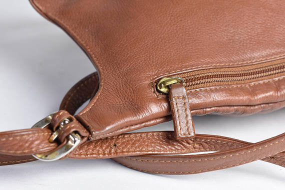 J.P. Ourse Cie Kangaroo Bag || Brown Leather Backpack || Leather Purse - Desert Moss