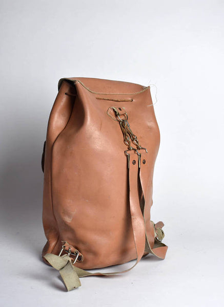 Light Brown Leather Backpack || Rustic Rucksack