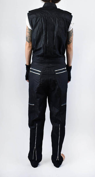 Super Rad BUGLE BOY CO. Sleeveless Top and Pants with Zippers, Gloves, and Belt!