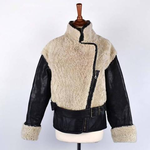 Shearling and Leather Biker Jacket - North Beach by Michael Hoban, Size Small
