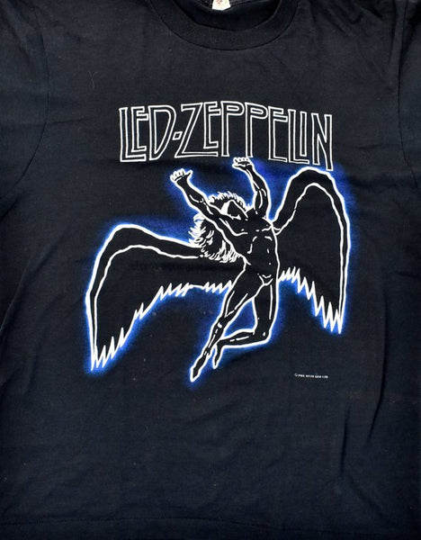 1984 Led Zeppelin Swan Song T-Shirt by Myth Gem Ltd., Screen Stars, Size Large, Made in the USA