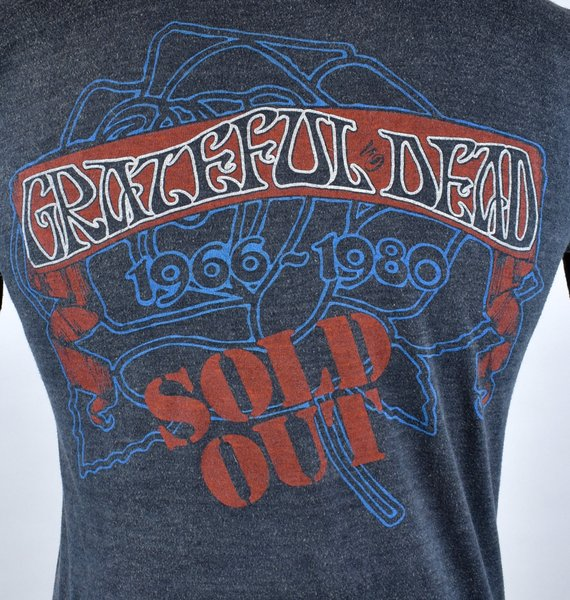 AUTHENTIC and RARE 1980 Grateful Dead Tour T-Shirt,, Historic shirt, Medium