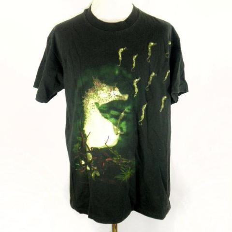 EXTREMELY RARE Nirvana Seahorse T-Shirt from In Utero, All Apologies/Rape Me - Desert Moss
