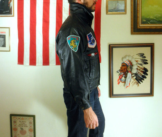 1970's Avirex Type G-1 U.S. Army Air Forces Authentic Bomber Jacket // Impeccable Shape // Large - Desert Moss