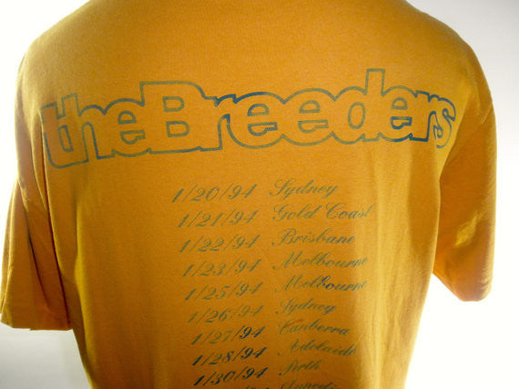 The Breeders 1994 World Tour Tee, Size Large, Authentic