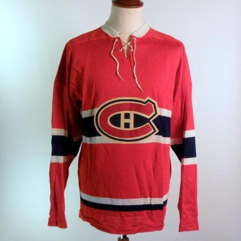 Authentic 1940's-1950's Montreal Canadien's Jersey, Size Large, EXCELLENT Condition