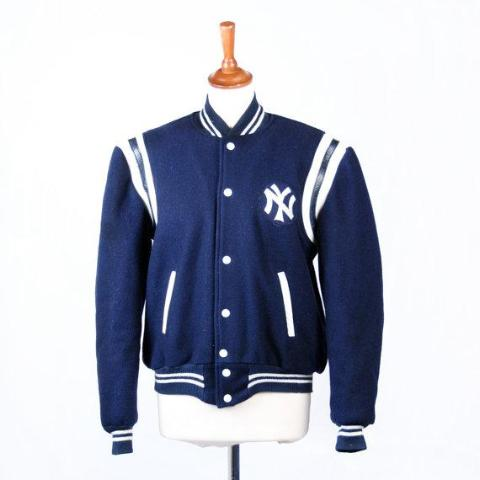 Vintage 1950's New York Yankees Twill Letterman Jacket with FREE Jersey, Perfect Condition, Highly Collectible and Rare