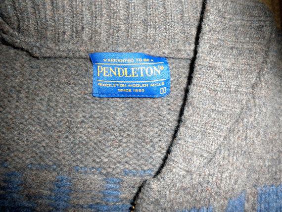 Pendleton Thunderbird Cowichan Sweater, Pendleton Cardigan, Excellent Condition