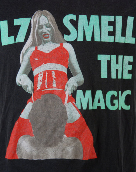 1990 L7 Smell The Magic Tee, EXTREMELY RARE - Desert Moss