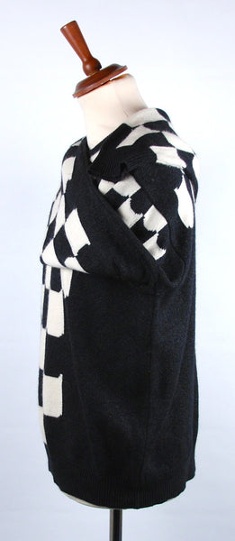 Authentic 90's VERSACE Checker Sweater Made in Italy, Excellent Condition, Size Large, Size 54