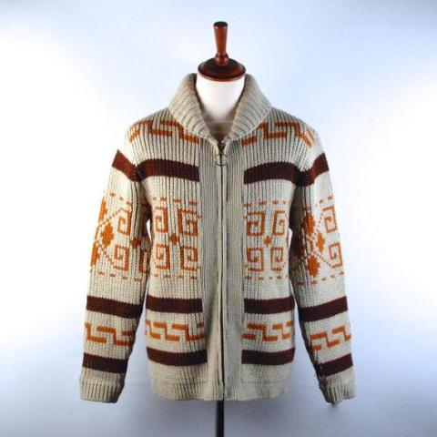 Rare 1970's Pendleton Cowichan Sweater, Big Lebowski Cardigan, Men's Medium, Great Vintage Condition