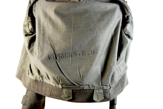 Wool U.S. Marines Korean War Era Dress Jacket and Pants, War Ribbons, General Issue Numbers and Names - Desert Moss