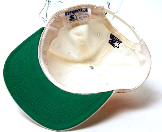 1980's DENVER BRONCOS Miller Lite Player of the Year Snapback Cap by Starter - Desert Moss